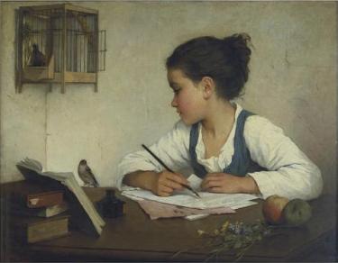 Enfant_écrivant-Henriette_Browne